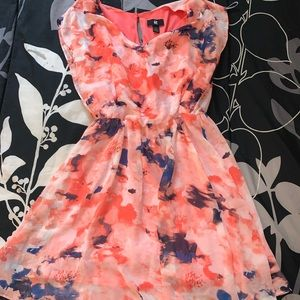 Coral Flowery Dress